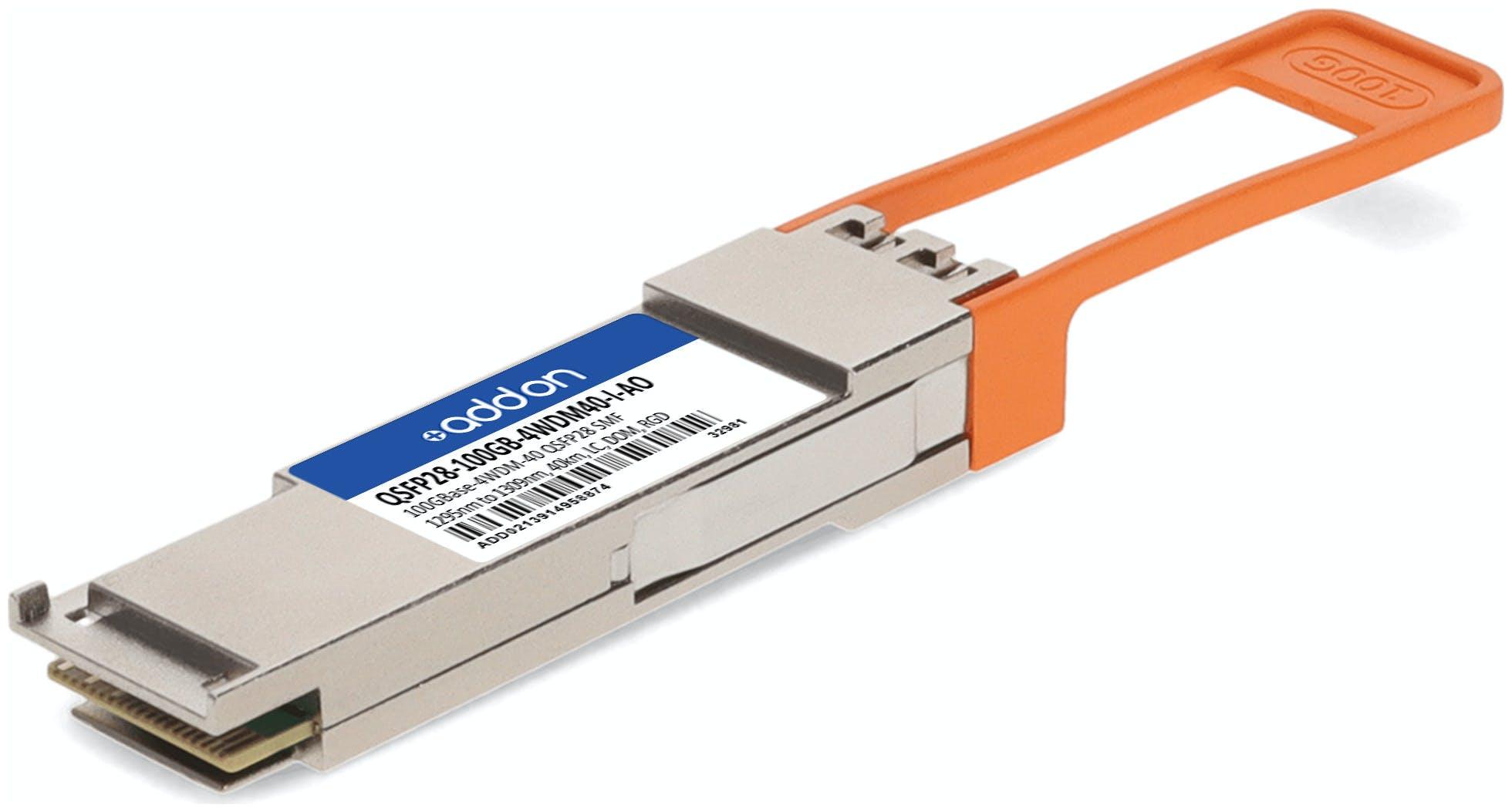 QSFP28 100G 4WDM40 ITEMP Transceiver